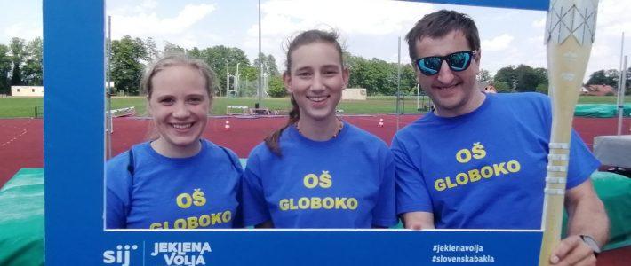 Športni predstavniki OŠ Globoko nosili Slovensko baklo – prebujamo jekleno voljo