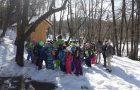 Učenci v učilnici narave